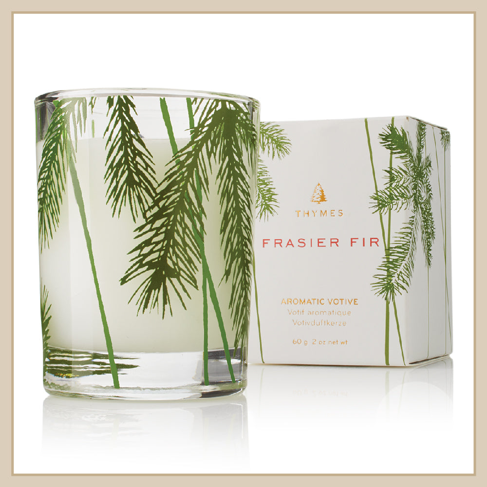 Thymes Frasier Fir Pine Needle Votive Candle - Envy Paint and Design