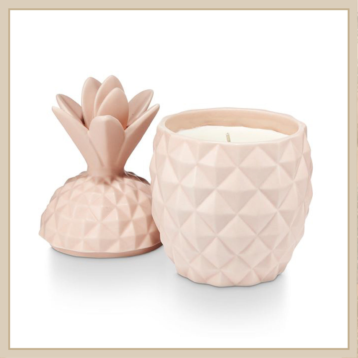 Ceramic Pineapple Candle - Envy Paint and Design