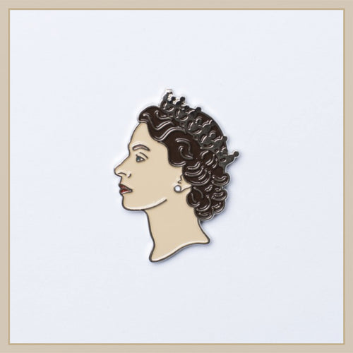 Queen Elizabeth II Enamel Pin - Envy Paint and Design