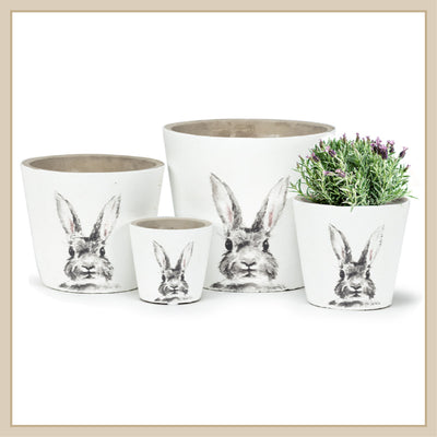 Rabbit Plant Pots - Envy Paint and Design
