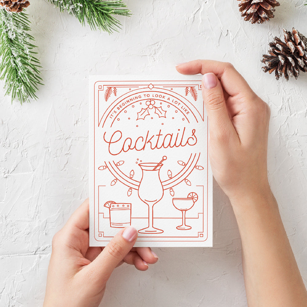Cocktails Greeting Card - Envy Paint and Design