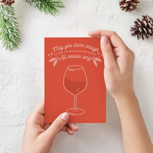 Drinks Greeting Card - Envy Paint and Design