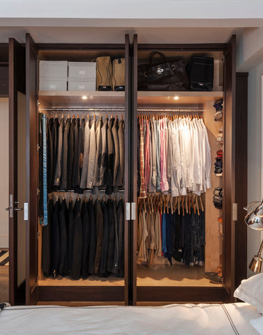 Peter Som's organized custom closet