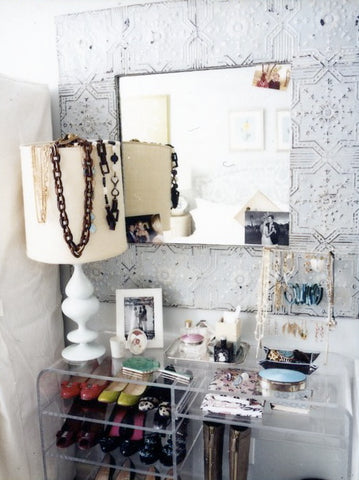 jewelry storage and shoe shelves