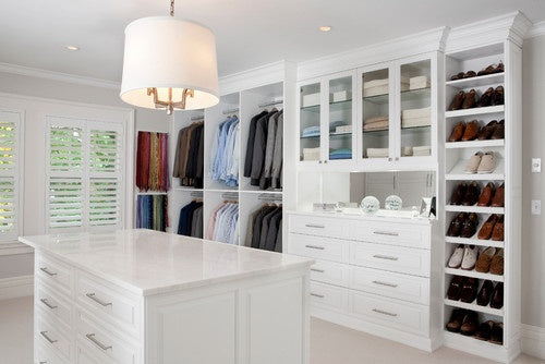 Modern All White Dressing Room