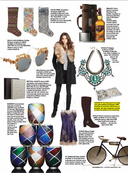 Travel Jewelry case in Avenue magazine