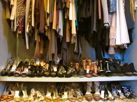 shoe shelves in Eva's dream closet