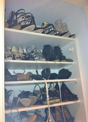 shoe rack in Jill Kargman's celebrity dream closet