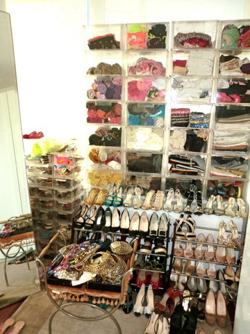 shoe racks in Miguelina's celebrity dream closet