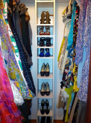shoe shelves in Alexandra Lind Rose's dream closet