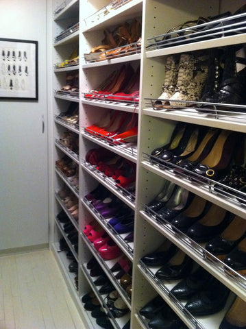 shoe storage racks in stacy london's celebrity dream closet