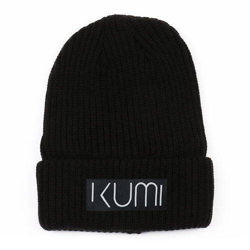 Kumi Ultra Soft Woven Knit Cuffed Beanie (Black)