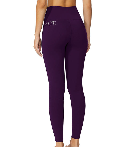 High-Waisted Eggplant Long Pant - Kumi