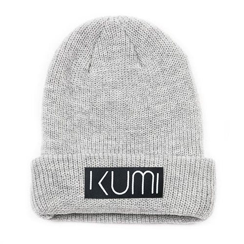 Kumi Ultra Soft Woven Knit Cuffed Beanie (Grey)