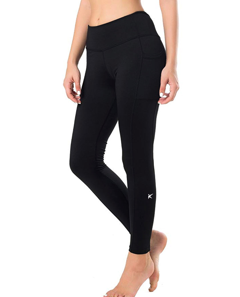 Black Kumi Long Pants with Side Pockets