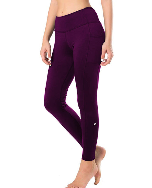 Eggplant Kumi Long Pants with Side Pockets