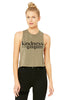 Women's Racerback Cropped Tank (Kindness is Gangsta)