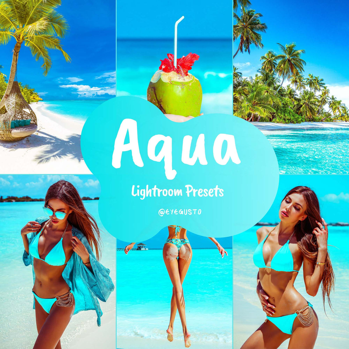 Aqua Lightroom Beach Presets Instagram Summer