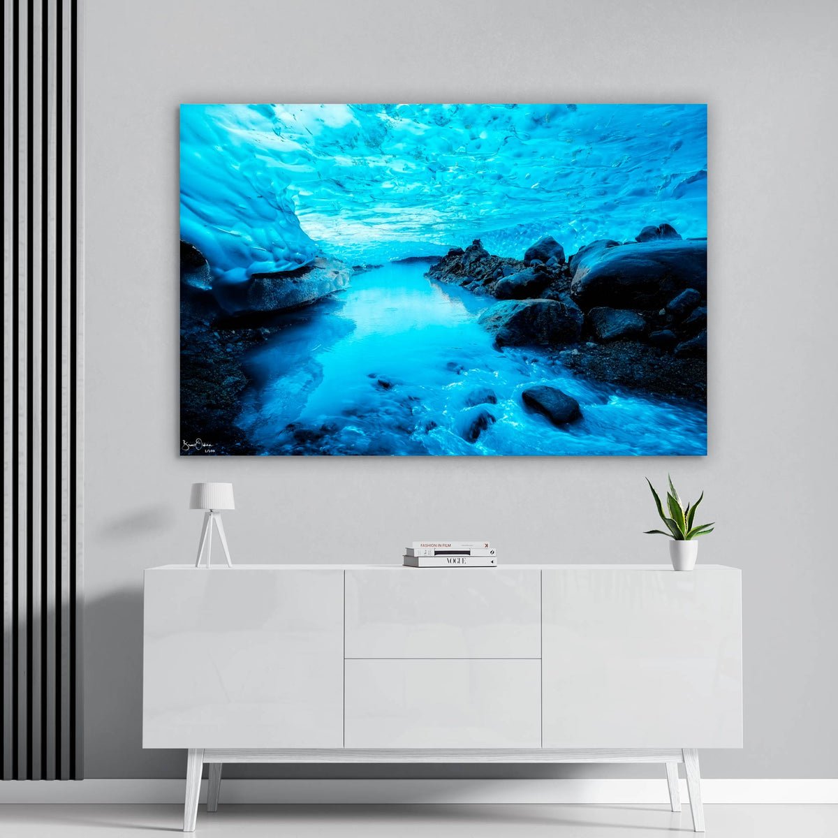 Blue River Wall Art Print Ice Cave Fine Art