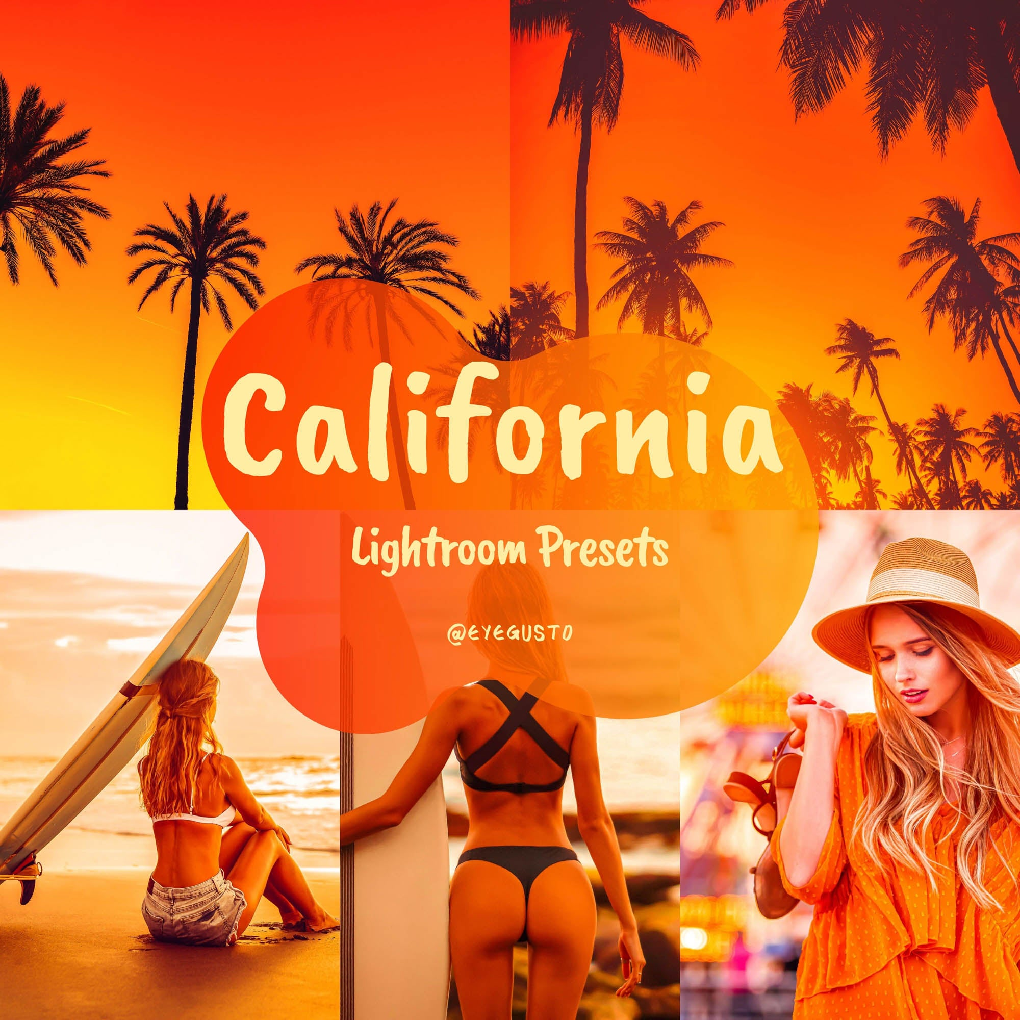 California Sunset Lightroom Preset Mobile Instagram