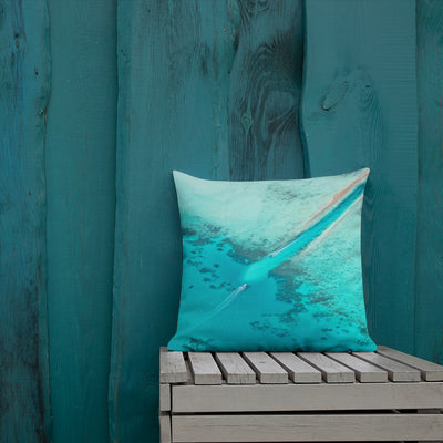 Decorative Throw Pillows - Summer Collection - The Coral Reefs from Above