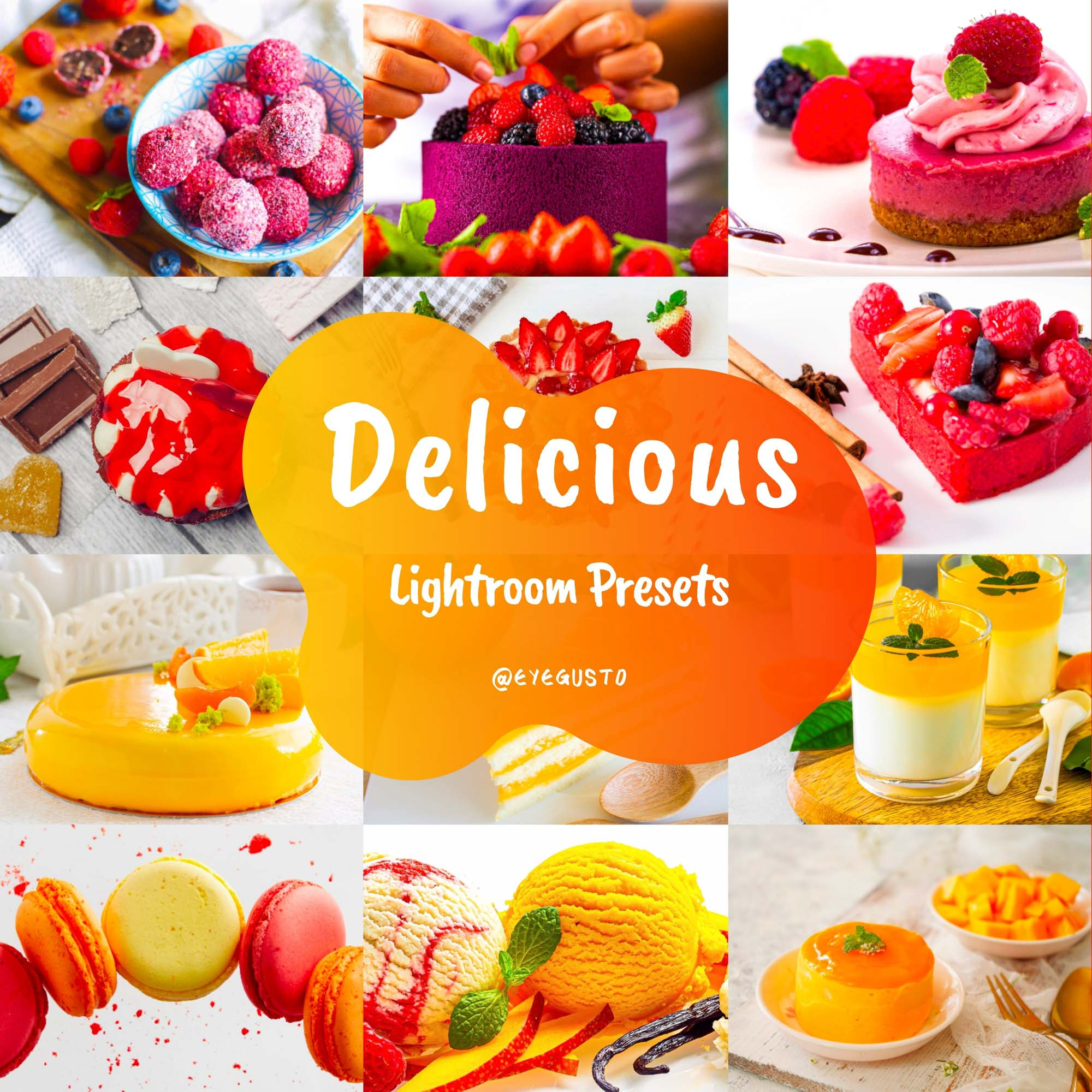 Desserts Food Lightroom Presets Mobile Instagram