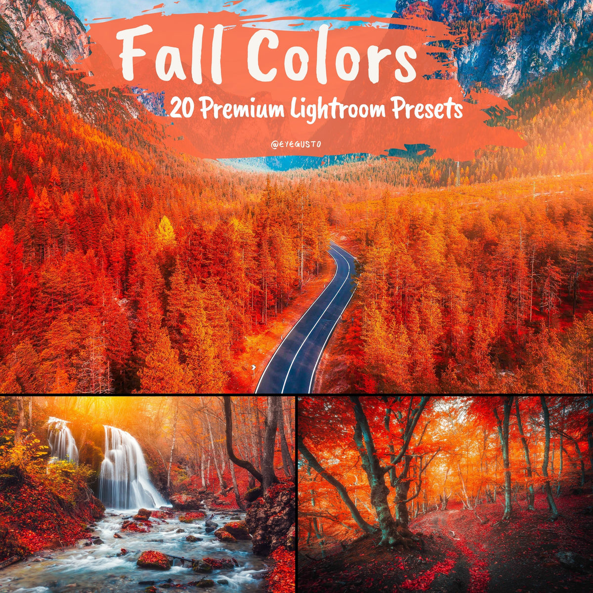 20 Fall Video LUTs Pack | Premiere Pro and Final Cute Pro