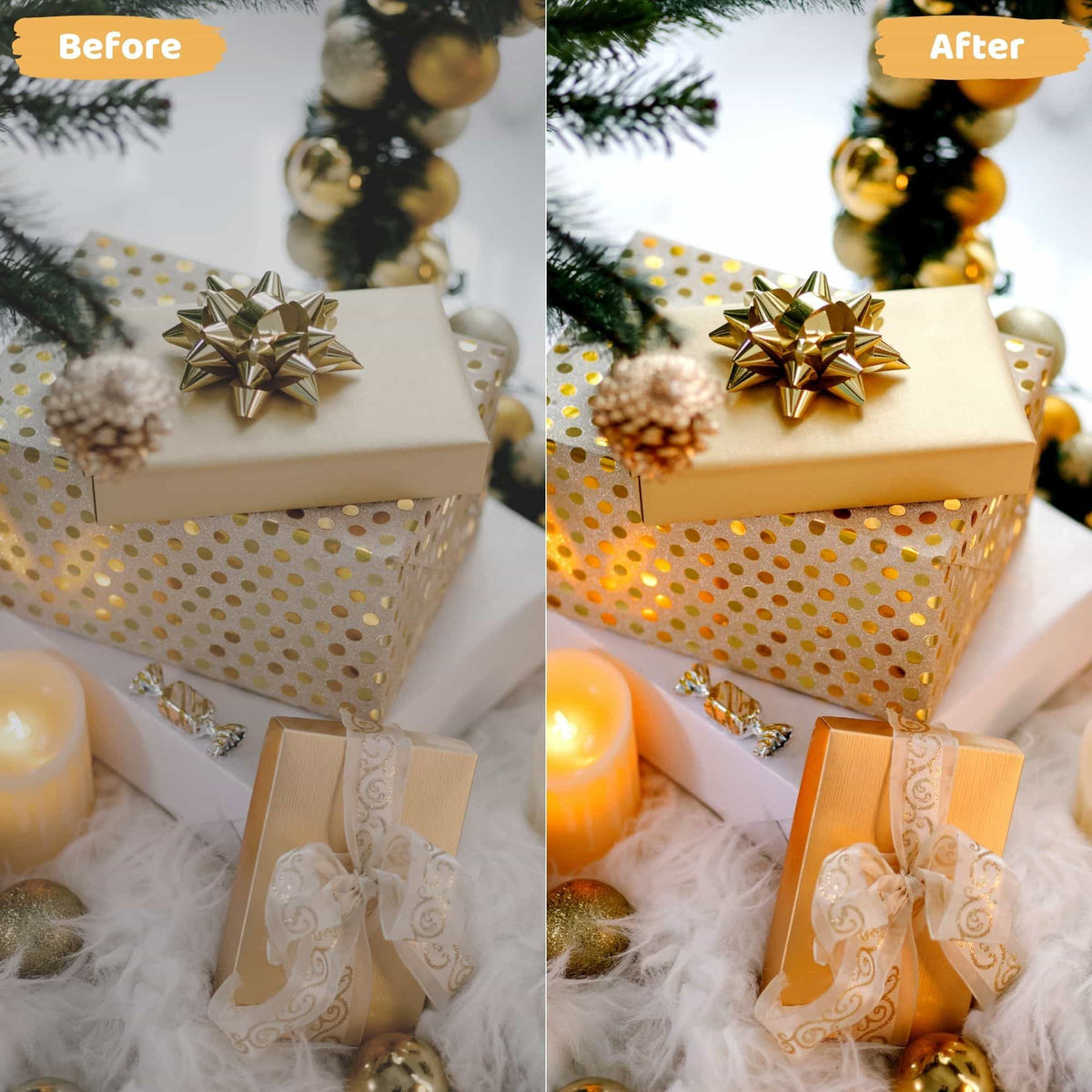 16 Golden Christmas Presets
