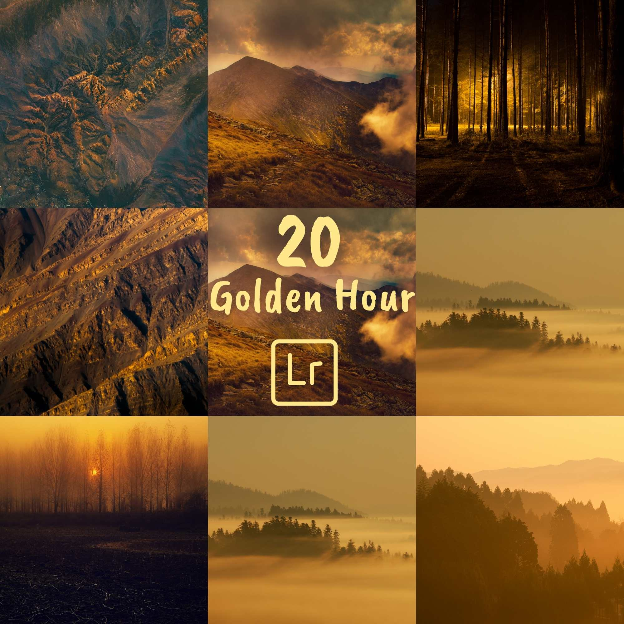 Golden Hour Lightroom Preset Instagram Mobile Desktop