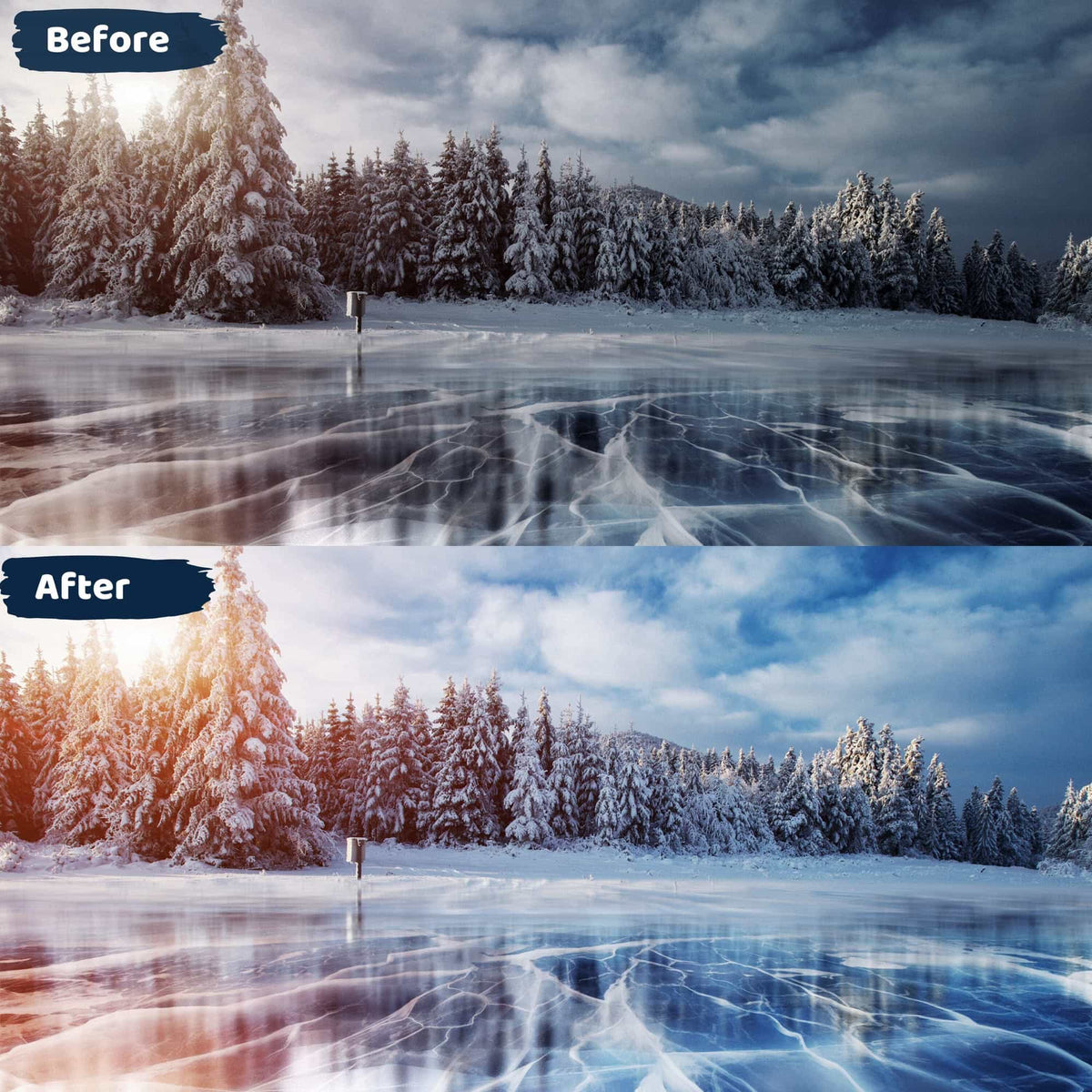 Landscape Lightroom Presets Winter Wonderland