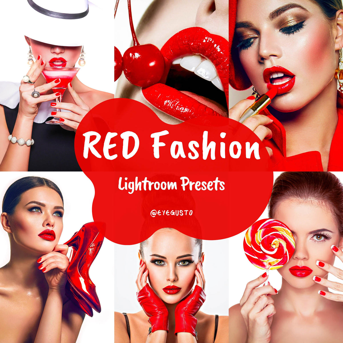 Red Blogger Presets Lightroom Mobile and Instagram