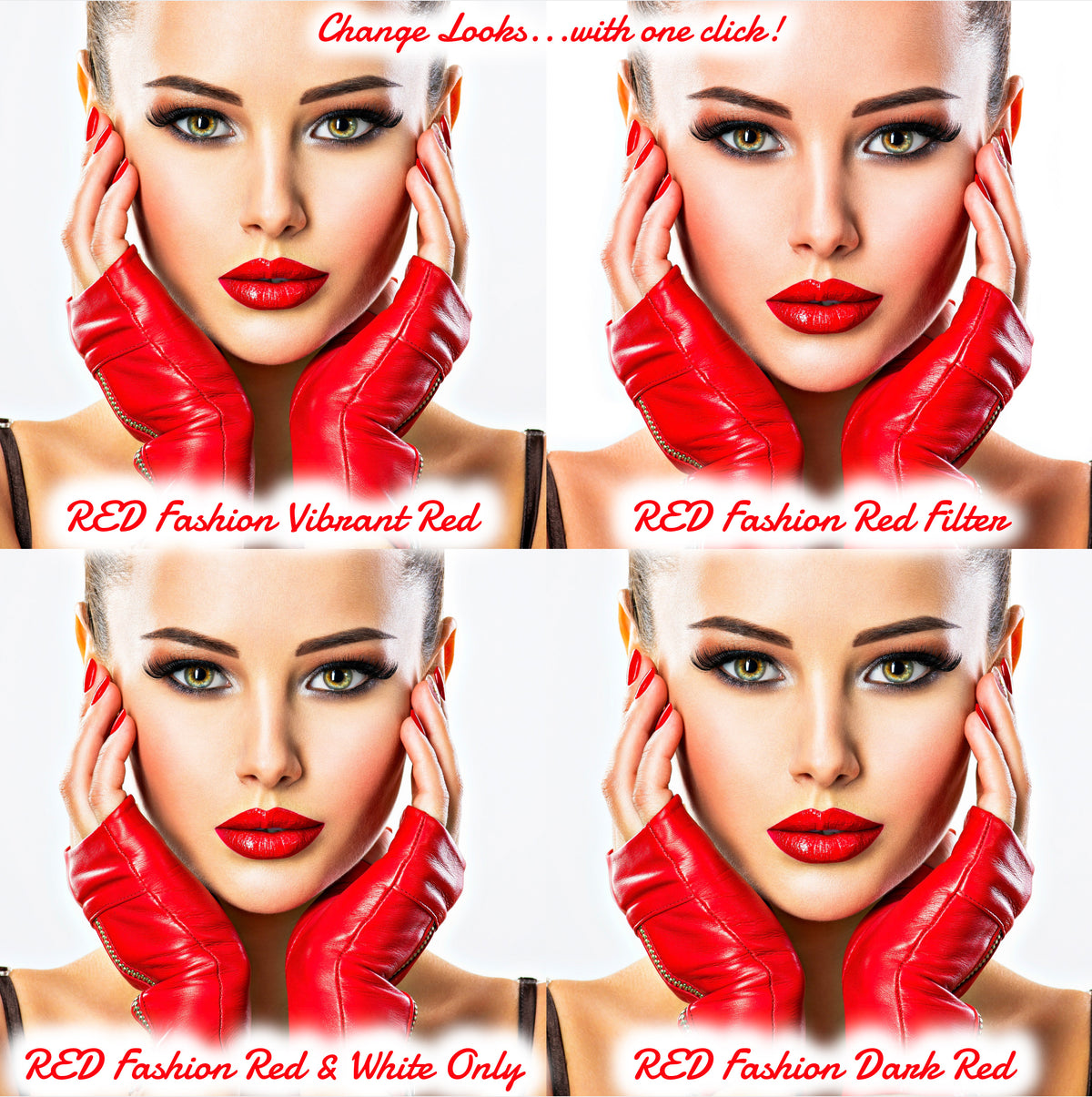 12 Red Fashion Presets