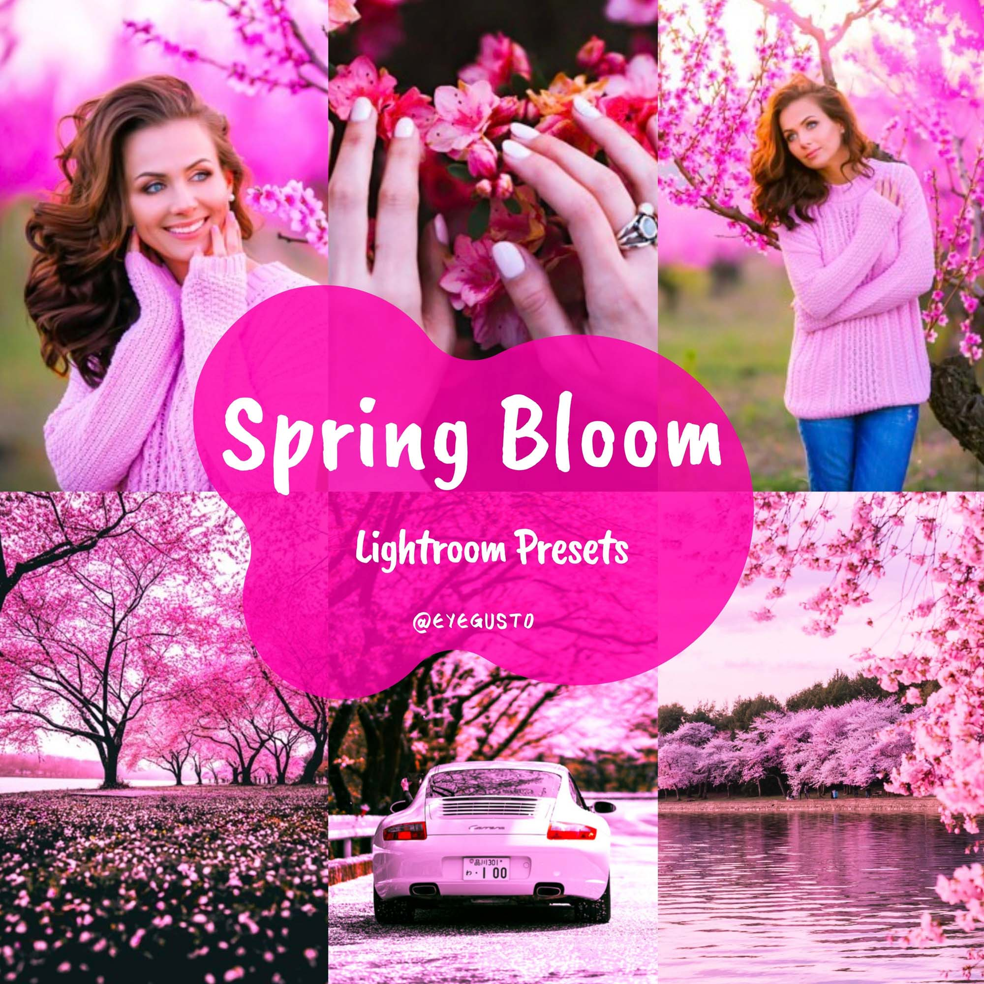 Spring Lightroom Presets Instagram Pink