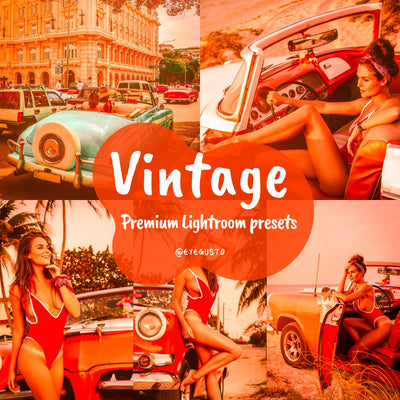 12 VINTAGE Lightroom Presets Instagram
