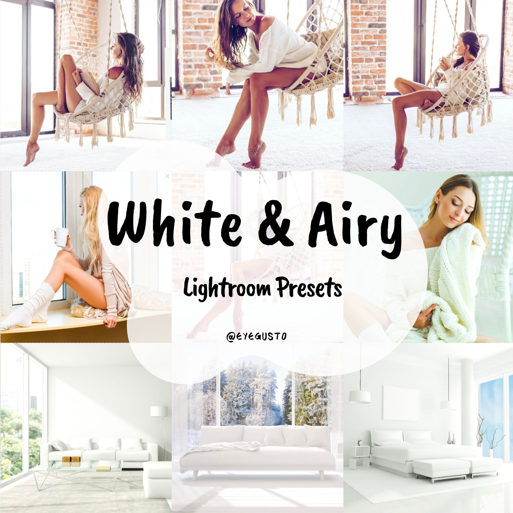 White Presets for Lightroom Mobile and Instagram Filters