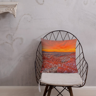 Luxury Decorative Pillow - The Sky on Fire over the Gorgeous Canyon (Limited Edition)