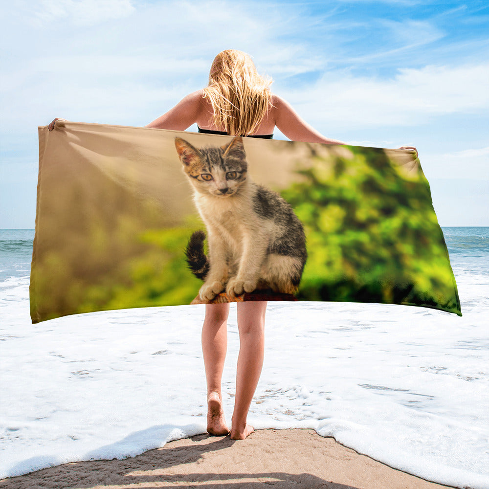 Beach Gym Spa Towel - Cat Collection -  The Mysterious Look