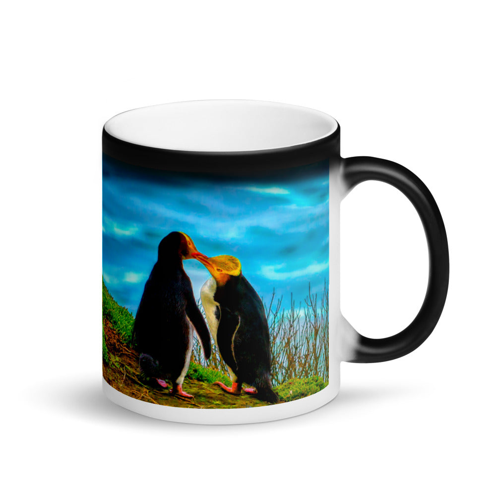 Surprise Black Mug - The Wildlife Collection - Two Penguins in Love