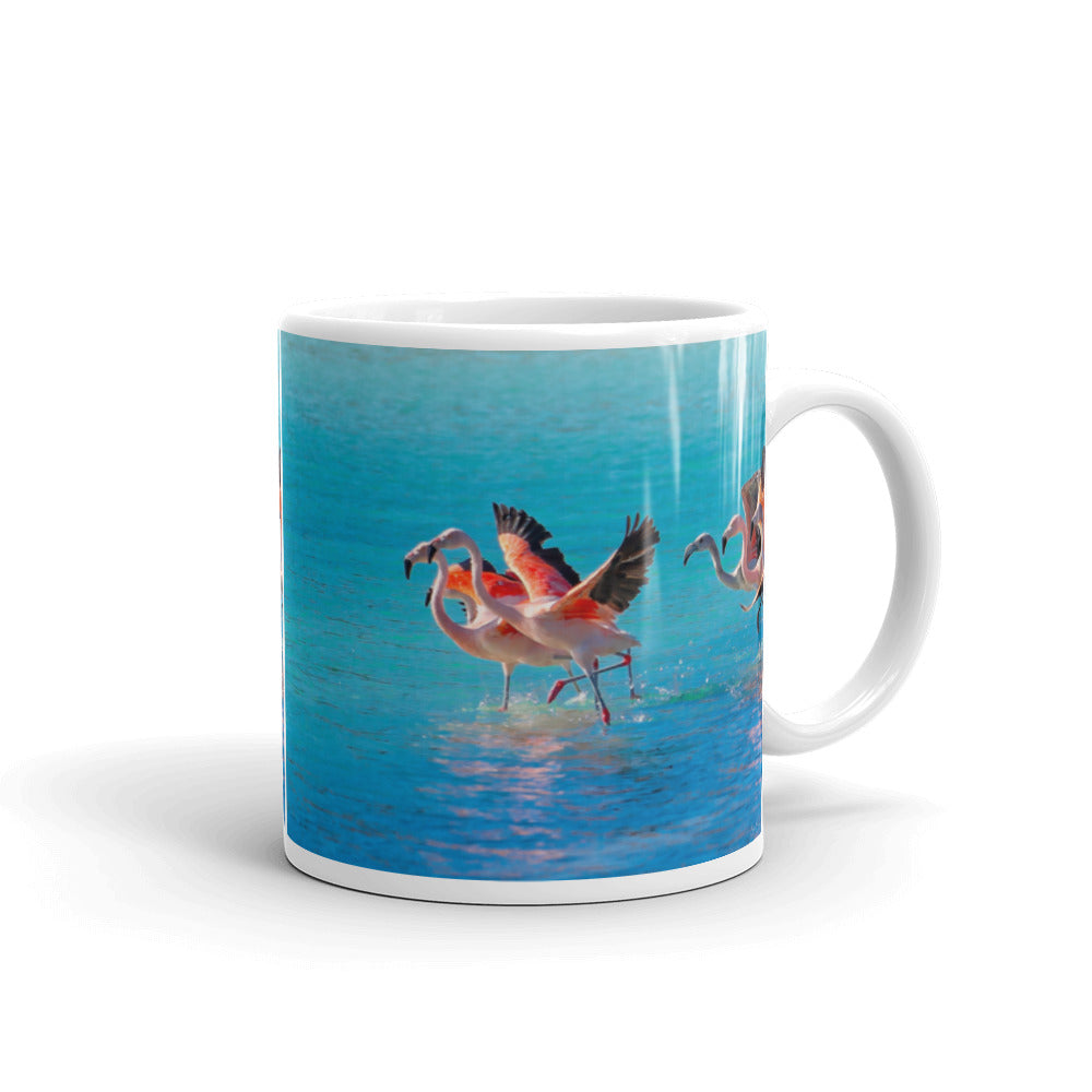 Mug - The Wildlife Collection - The Two Flamingos