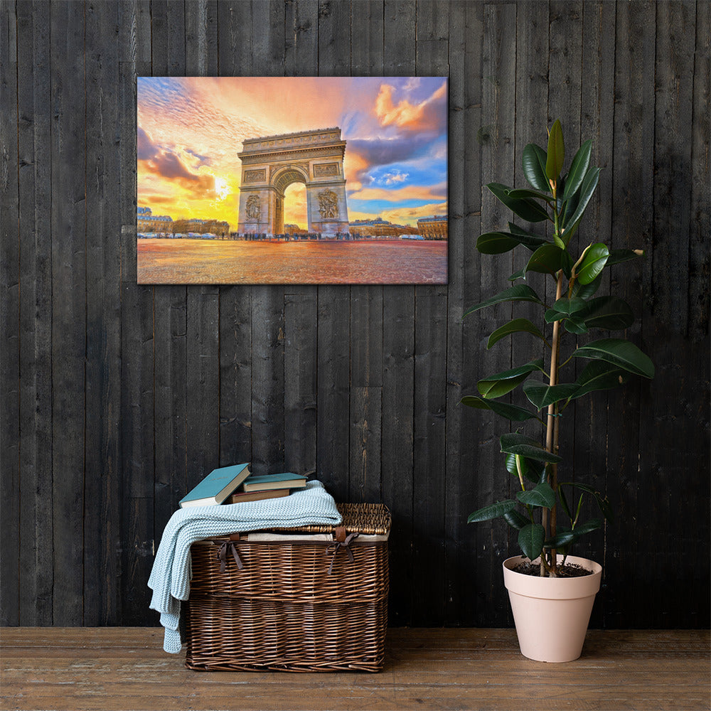 Art Painting Arc de Triomphe  - Premium Wall Art Canvas Print
