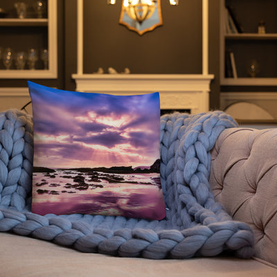 Decorative Throw Pillows - Summer Collection - The Purple Sunset at the Beach