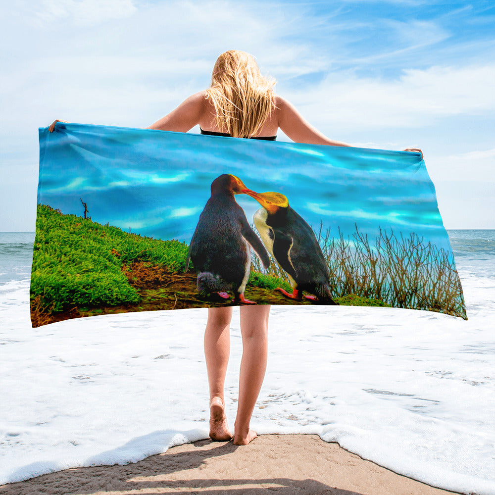 Beach Gym Spa Towel - Summer Collection -  The Two Penguins in Love