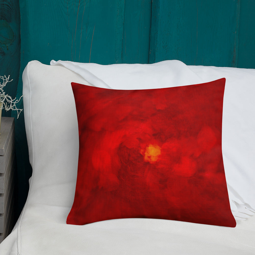 Abstract Art Cushion Red - Premium  Artistic Pillow