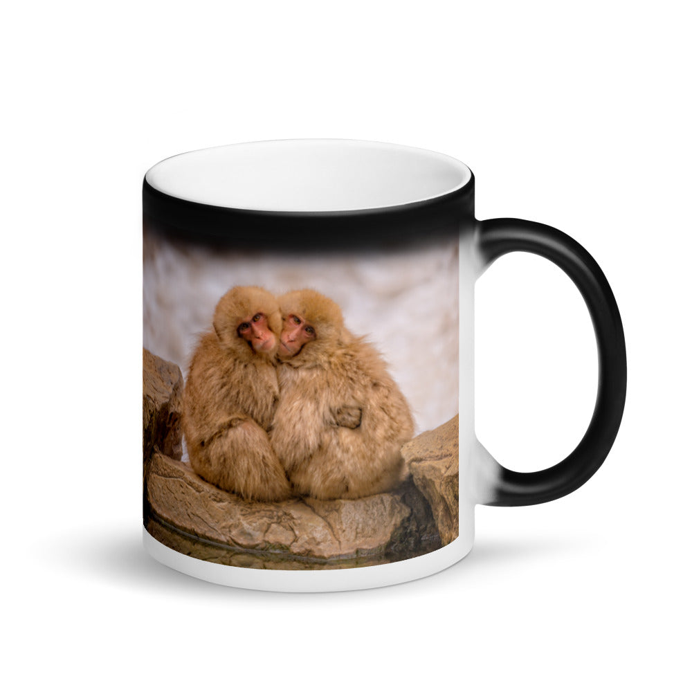 Surprise Mug - The Wildlife Collection - Two Monkeys Cuddling