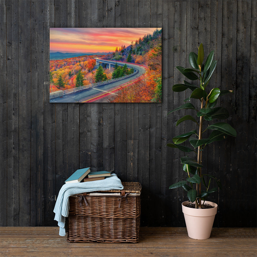 Premium Wall Art Canvas Autumn - A Thunderstorm of Color