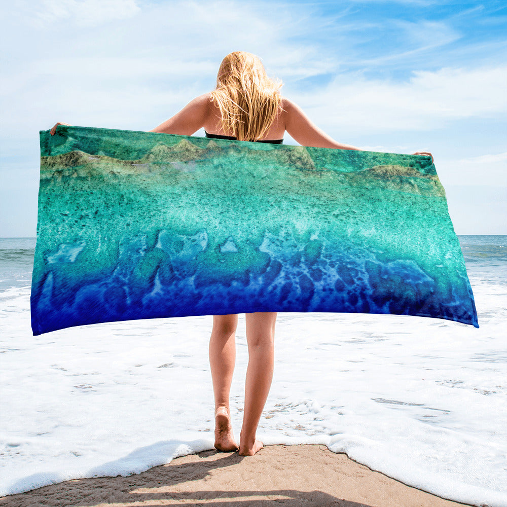 Beach Gym Spa Towel - Summer Collection -  The Coral Reefs from the Air