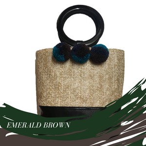 Woody Winter - Emerald Brown Poms