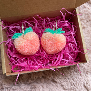 Earrings - Peach