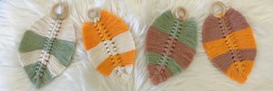 Macrame Leaf - Dual Colour