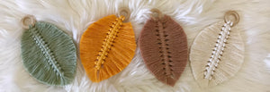 Macrame Leaf - Single Colour